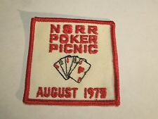 Vintage NSRR Poker Picnic August 1979 Sew On Patch