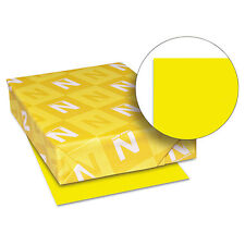 Neenah Paper Astrobrights Colored Card Stock 65 lb. 8-1/2 x 11 Solar Yellow 250