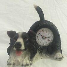 FATHERS DAY SALE!!  Critter Clock Border Collie Tabletop Wagging Tail Puppy Dog
