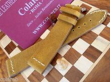 Cinturino pelle vintage ColaReb VENEZIA giallo ocra 20mm watch band strap correa