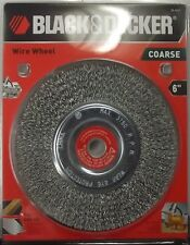 "BLACK & DECKER 70-613 6 in. Coarse Wire Wheel 5/8"" Arbor With 1/2"" Bushing"