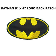 BATMAN Classic Logo LARGE Iron-On BACK Patch *FREE SHIPPING* US Seller DC Comics