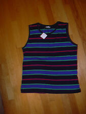 CLUB MONACO DAPHNE COTTON SHELL STRIPE TRICOT SIZE LARGE BAYOU BLUE NWT