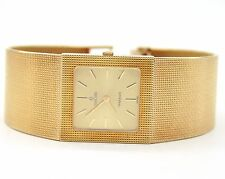 VINTAGE CONCORD MEN`S ROYAL MARINER 14K YELLOW GOLD SQUARE WATCH.