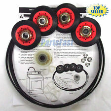 "New WPW10314173 Dryer Kit Rollers Pulley 93.5"" Belt (661570) for Whirlpool FSP"