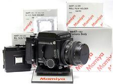 Mamiya RB PRO SD CAMERA SET KIT (BODY + 127mm LENS + SD 120 6x4.5 + 6x7 BACKS)