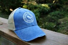 Fly Fishing Hat ( Wooly Bugger) Trucker style, blue/tan