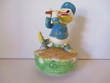 "DISNEY'S DONALD DUCK SCHMID MUSIC BOX - ""WHISTLE WHILE YOU WORK"" - FREE SHPG"