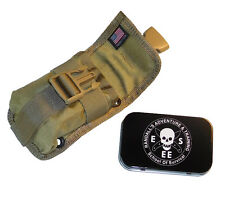 ESEE Accessory Pouch & Tin (KHAKI) fits Model 5, 6 & Laser Strike Knife Sheath