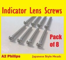 Kawasaki Z650 - Stainless Indicator Screws (x8) (Ref: M43508)