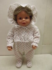 MY TWINN BABIES POSEABLE BABY DOLL W/ORIGINAL SLEEPER HAT & ONESIE