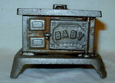 """Antique Home Miniature """"BABY"""" Cast Iron Wood Stove"""
