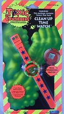 Vintage Toxic Crusaders Clean Up Time Watch 1991 Rare Collectible Factory Sealed