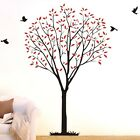Large Family Birds Tree Wall Stickers Vinyl Removable Decor Decals Home Mural AU