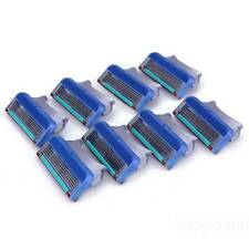 8x Man Shaving Razor Blade Refills Cartridge Blade 5 layer for Gillette Fusion