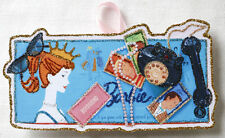 Barbie, Queen of The Prom~ Vintage Game~Glittered Wooden CHRISTMAS Ornament~