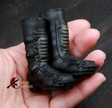 """1/6 Scale Black Boots Shoes Model Collection Action Figure Toy For 12"""" Body"""