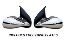 CHROME M3 MANUAL DOOR WING MIRRORS BMW 3 SERIES E46 4 DOOR SALOON & BASE PLATES