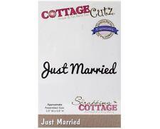 COTTAGE CUTZ WEDDING JUST MARRIED DIE CUTTING DIES - NEW UNIVERSAL FIT