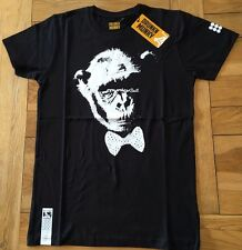 "Men'S BNWT Nero Limited Edition DRUNKNMUNKY ""Munky SUIT'S/Slv T, piccoli"
