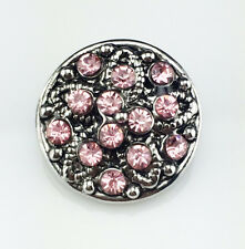 3D DIY Rhinestone Drill Snaps Chunk Charm Button Fit For  Leather Bracelets J22
