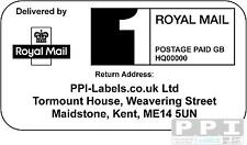 5000 x Royal Mail PPI Labels & Return Address, PPI-02-24 (24s)(1st or 2nd Class)