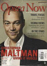 NEW! OPERA NOW UK January 2012 Cover CHRISTOPHER MALTMAN