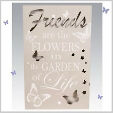 Friends Light Up LED WALL PLAQUE Hanging SIGN Butterfly Design