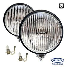 Pair Ring 12v Car 6 inch Round Fog Halogen Spot Lamps Lights 4x4 Van Lorry