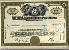 The Great Atlantic & Pacific Tea Company Stock Certificate Olive Maryland