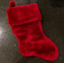 Christmas Stocking~Red/Fluffy/Soft/Velvet~Never Used EC! Beautiful