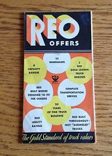 1930s REO Truck New Model Options and Accessory Dealer Brochure VERY UNIQUE!