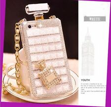 Luxury Crystal Diamond Perfume Bottle Shape Handbag Case Cover For Various Phone