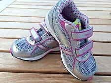 Infants New Balance Silver and Purple Sneakers Little Girls  Size 6 1/2 M