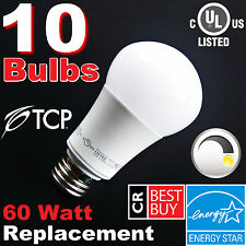 60W Equivalent LED ▶DIMMABLE◀ Soft White 60 Watt 2700K A19 Light Bulbs ▶By TCP◀