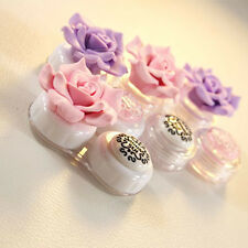 Home Travel Portable Cute Flower Contact Lens Storage Box Container Case Holder