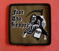Fear The Reaper Iron On Patch RIP Headstone New