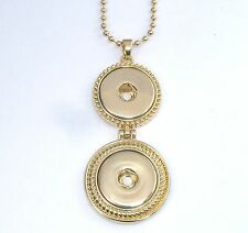 Snap It Double Pendant Necklace For Snap it Buttons  **We Combine Shipping**