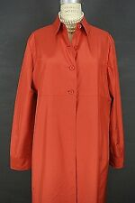 ELLEN TRACY Linda Allard Jacket 18 SILK RED Raincoat Overcoat Long Cover up 1001