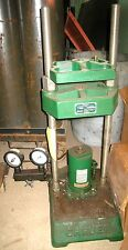 Carver 12 Ton Model C Lab Press with 2 Gage Manifold and Electric Hydraulic Unit
