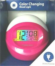 Timelink Color Changing Electric Alarm Clock Snooze Freeze Battery Backup New