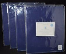 4 Pottery Barn Kids Sailcloth Panels Curtains Drapes Pole 44 x 63 Navy Blue s/4