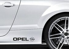 2x Side Skirt Stickers fits Opel with Logo Premium Car Premium Car Decals BL69