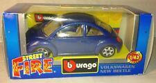 1/43 VW new beetle bleue burago cox combi maggiolino Käfer Escarabajo coccinelle