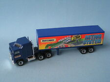 Matchbox Convoy Kenworth Box Truck Action System Blue Body Boxed Toy Model