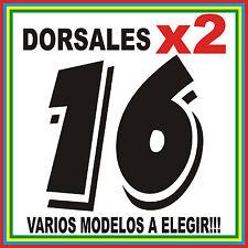 2x DORSAL NUMERO MOTO - PEGATINA VINILO STICKER 10CM X 10CM
