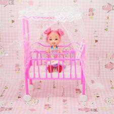 Barbie Lit Bébé Plastique Poupée Mobilier Accessoires Doll Chambre Maison Meuble