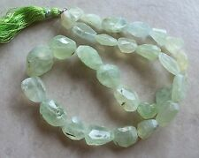 "17"" Strand Natural Prehnite Gemstone Large Faceted Nugget Beads 11mm-22mm"