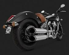Vance Hines Exhaust Chrome Twin Slash Round Slip-ons Indian Scout 18621