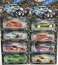 HOT WHEELS HALLOWEEN 2016 COMPLETE SET OF 8 DEORA BONE SHAKER VANDETTA